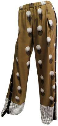 Vionnet Brown Silk Trousers