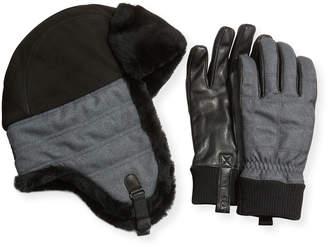 UGG Men's Trapper Hat & Smart Gloves Box Set