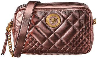 Versace Icon Quilted Metallic Leather Camera Bag