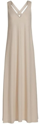 Brunello Cucinelli Embellished Jersey Maxi Dress