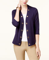 JM Collection Petite Grommet-Trim Open Cardigan, Created for Macy's