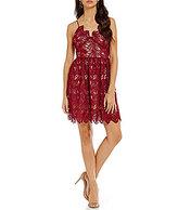 J.o.a. Sleeveless V-Neck Lace Dress