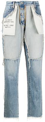 Unravel Project Distressed Reverse Boyfriend Fit Jeans
