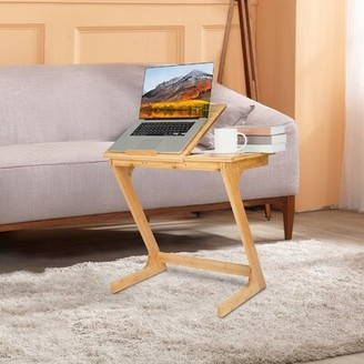 Inbox Zero Solid Wood Tray Top C Table End Table