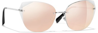 Chanel Cat Eye Sunglasses CH4237 Silver/Pink