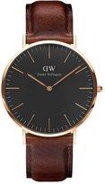 Daniel Wellington Men's Classic St. Mawes DW00100124 Rose Leather Quartz Watch