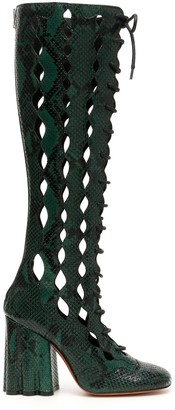 Marni Cut-Out Embossed Long Boots