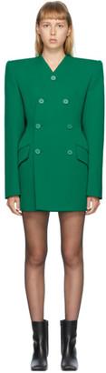 Balenciaga Green Double Breasted Dynasty Dress