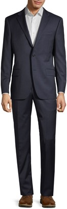 Hickey Freeman Classic-Fit Pinstriped Wool Suit