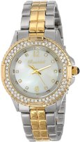 Swarovski Bombshell Women's BS1072-2TONE(ST./GOLD) Harmony Crystal Stone Case 2-Tone Gold Stainless Steel Bracelet Watch