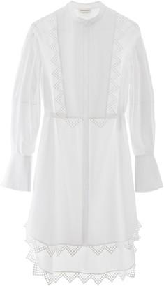 Alexander McQueen Lace Trim Shirt Dress