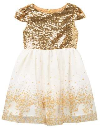 Blush by Us Angels Sequin Bodice Tulle Dress (Toddler & Little Girls)