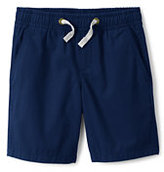 Lands' End Boys Husky Pull On Woven Shorts-Antique Alabaster