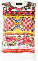 Dolce & Gabbana Mambo print tank top - women - Silk - 44