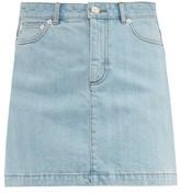 A.P.C. Fanny Denim Mini Skirt - Womens - Light Denim