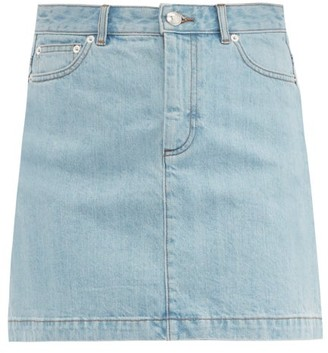 A.P.C. Fanny Denim Mini Skirt - Womens - Light Denim