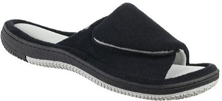 Isotoner Men's Microterry Two Tone Slide