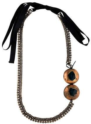 Marni Resin, Ribbon, & Chain Statement Necklace