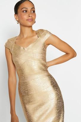 Coast Metallic Cap Sleeve Midi Dress