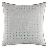 Manor Hill Cortlandt Dash Stitched Square Throw Pillow in Grey