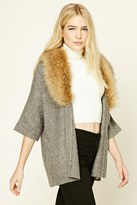 Forever 21 FOREVER 21+ Faux Fur Shawl Collar Cardigan