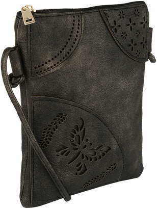 MKF Collection by Mia K. Women's Crossbodies - Black Willow Crossbody Bag