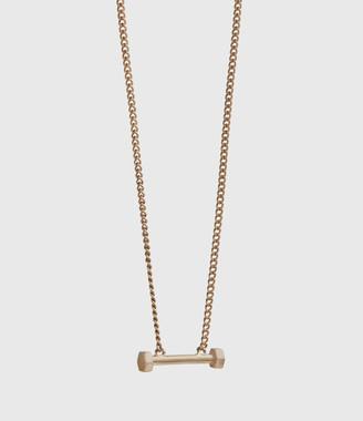AllSaints Hexbar Gold-Tone Pendant Necklace