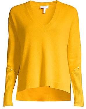 Escada Sport Women's Rivet-Detailed Wool-Blend Sweater