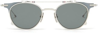 Thom Browne Clip-on Lens Round Sunglasses - Grey