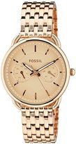 Fossil Women's ES3713 Tailor Multifunction Rose Gold-Tone Stainless Steel Watch