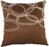 A&B Home 18 x 18 Silk Blend Beaded Pillow - Copper