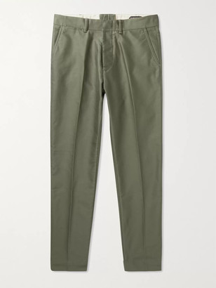 Tom Ford Cotton Chinos - Men - Green