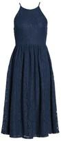 Soprano Women's High Neck Lace Midi Dress