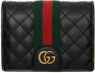 Gucci Black GG Web Wallet