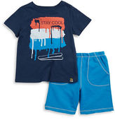 Charlie Rocket Baby Boys Stay Cool Tee and Shorts Ser
