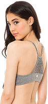 RVCA The Andrea Jersey Knit Bralette in Gray Noise