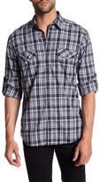 James Campbell Fresco Plaid Long Sleeve Regular Fit Shirt