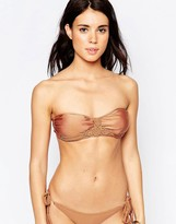 South Beach Macrame Bandeau Bikini Top