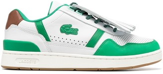 Lacoste Perforated Two-Tone Leather Trainers