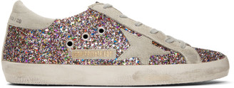 Golden Goose SSENSE Exclusive White Tuesday Superstar Sneakers