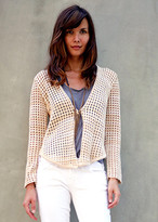 Goddis Costa Crop Cardi In Sand Dune