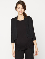 A Pea in the Pod Autumn Cashmere Cropped Maternity Cardigan