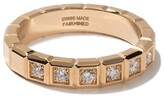 Chopard 18kt yellow gold Ice Cube diamond ring
