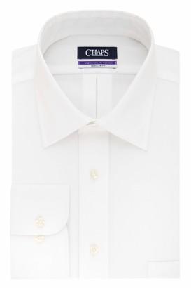 Chaps Men's Dress Shirts Regular Fit Stretch Spread Collar Solid