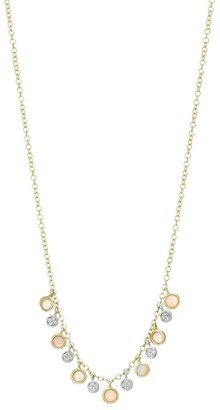 Meira T 14K Yellow Gold & Opal Charm Necklace