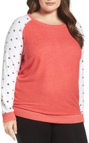 Make + Model Plus Size Women's Cozy Crew Lounge Sweater