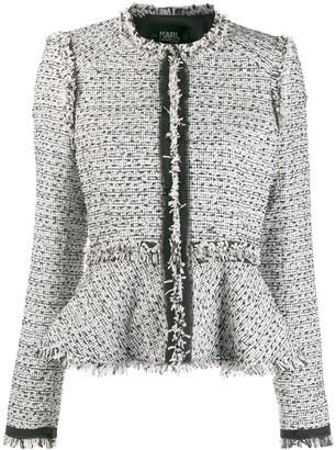 Karl Lagerfeld Paris peplum tweed jacket