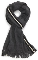 BOSS Men's Fador Wool Stripe Scarf