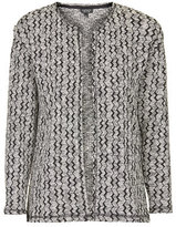 Topshop Monochrome jacquard throw on cardigan