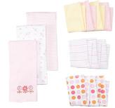 SpaSilk Pink Flower Baby Cloth set